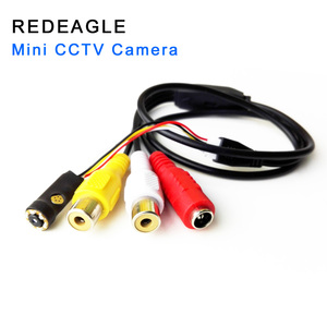 Image 1 - REDEAGLE 700TVL CMOS אנלוגי מצלמה מיני אבטחת בית מעקב וידאו מצלמה 6pcs 940nm IR נוריות AV הקטן מצלמות