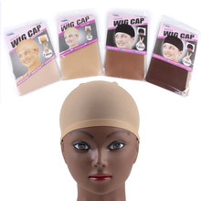 24 pieces (12 packs) Wig Cap Hairnet Free Size Cap Wig Making Stretch Mesh Hair Net for Weave Stocking Cap