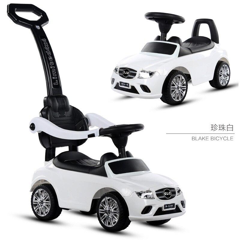 Четыре колеса детские ходунки-велосипед открытый дети кататься на игрушечной машине толкатель коляска детский скутер дети автомобиль с ...
