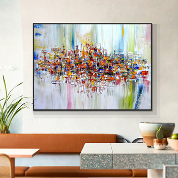 Abstract Colorful Texture Oil Painting On Canvas 100% Hand Painted Modern Wall Art Without Frame For Living Room Decoration 2020 christmas gift modern paintings abstract gold oil painting 100% hand painted on canvas for living room decoration wall art