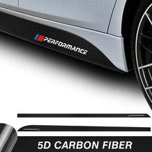 2 sztuk samochodów drzwi boczna dokładka paski naklejki M wydajność ciała etykiety winylowe dla BMW F20 F30 F15 F16 G30 F10 Z4 E60 E90 G20 F31 F32