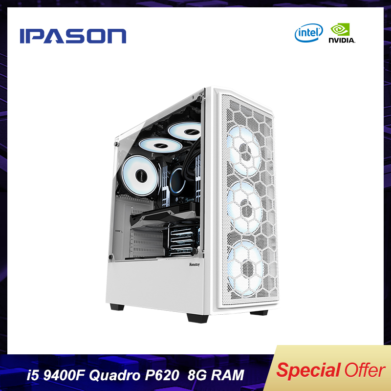 IPASON <font><b>i5</b></font> <font><b>9400F</b></font>/P620 DDR4 16G Designer Flat Drawing Desktop Assembly 3D Design Modeling Rendering Graphics Workstation image