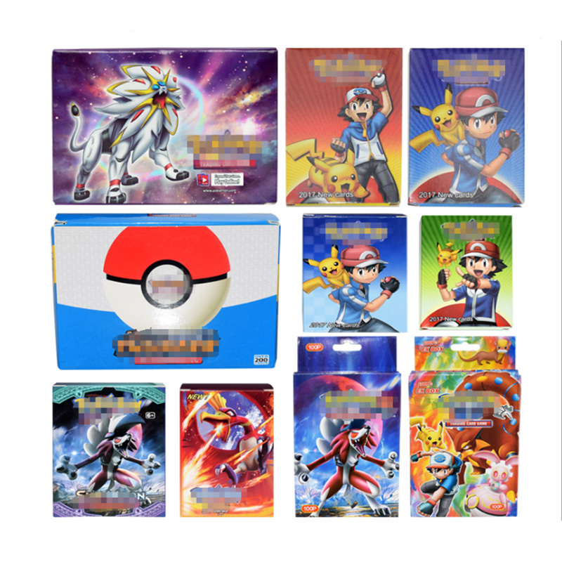100 120 200 324 Sheets GX EX MEGA Pokemon Card Pikachu Pokémon Flash Card English Children's Gifts Cards