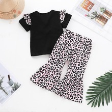 Little Sister Shirt And Leopard Pants Outfit Set