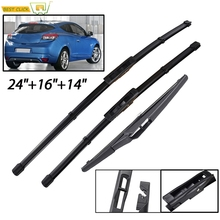 Misima Windshield Windscreen Wiper Blades For Renault Megane 3 Hatchback Coupe Front Rear Window 2009 2010 2011 2012 2013 2014