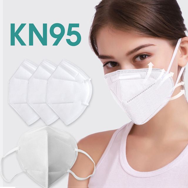 100pcs KN95 Mask Dust Masks Anti Flu Mask Prevent Anti Dusts PM2.5 Bacterium Safety Disposable Mask Face Mouth Masks Ship Fast 5