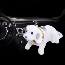 Car Dashboard Toys Shaking Head Dog Doll Cute Decoration Nodding Puppy Figures Auto Accessories Kids Ornaments Automobiles Gift
