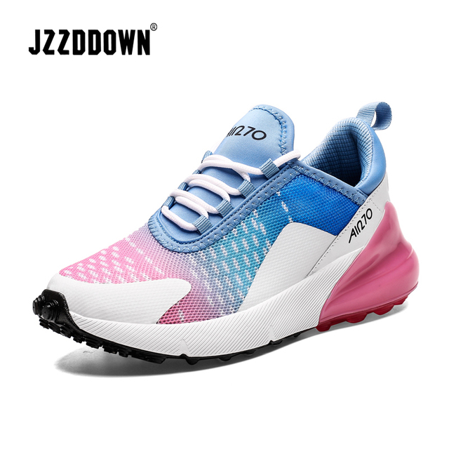 Jzzddown للجنسين ضوء ملون الوزن أحذية رياضية أحذية للنساء الرجال زوجين عشاق النساء تنفس Zapatos دي موهير أحذية رياضية