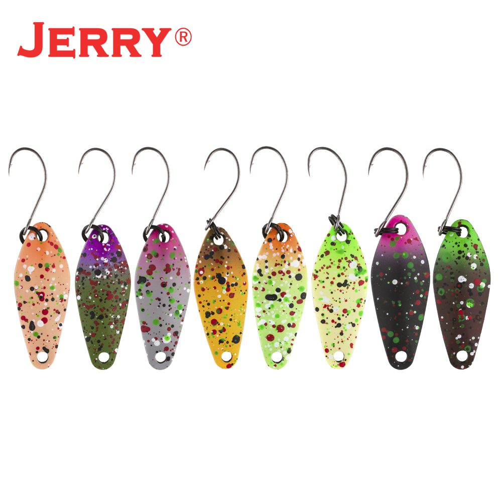 Jerry Draco Trout Spoon Kit Set Micro Perch Fishing Lures Spinner Bait
