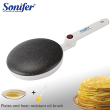Electric Crepe Makerพิซซ่าเครื่องแพนเค้กGriddleไม่ติดBaking PANเค้กครัวเครื่องมือทำอาหารSonifer