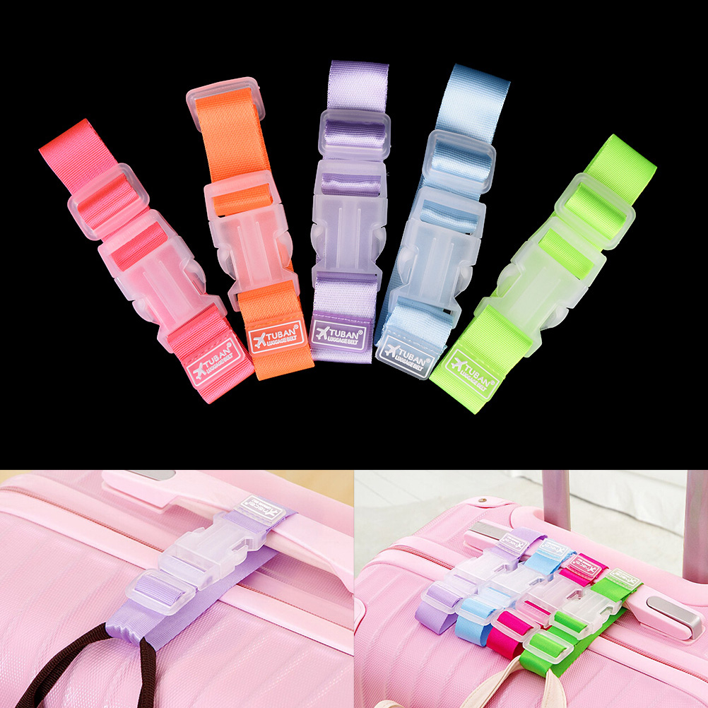 1PCS Portable Adjustable Travel Accessories Buckle Button Security Parts Suitcase Bag Straps Luggage Strap Baggage Buckle Lock