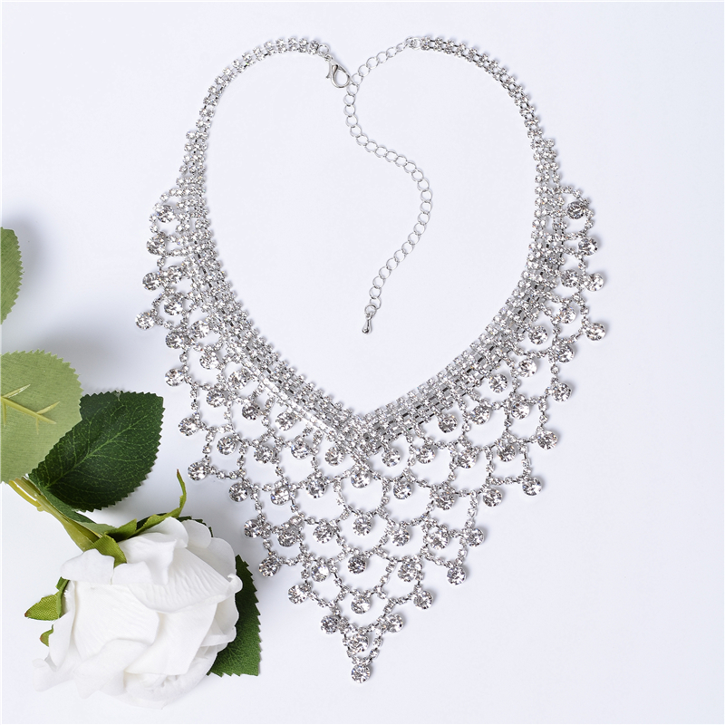 CORUIXI Prom necklace, wedding accessories, luxurious rhinestone jewelry for women, the shining star-like heroine H94117