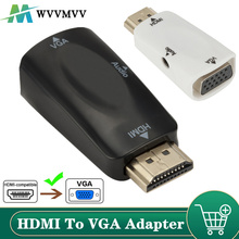 HDMI-compatible Male to VGA Female Adapter Audio Cable Converter FHD 1080P 720P 480P PC Laptop TV Box Computer Display Projector