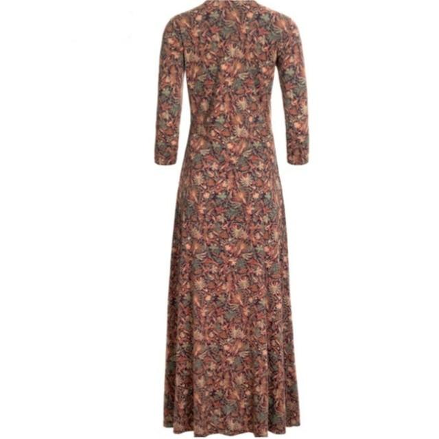 lovely casual long dress, pockets and v neckline 6