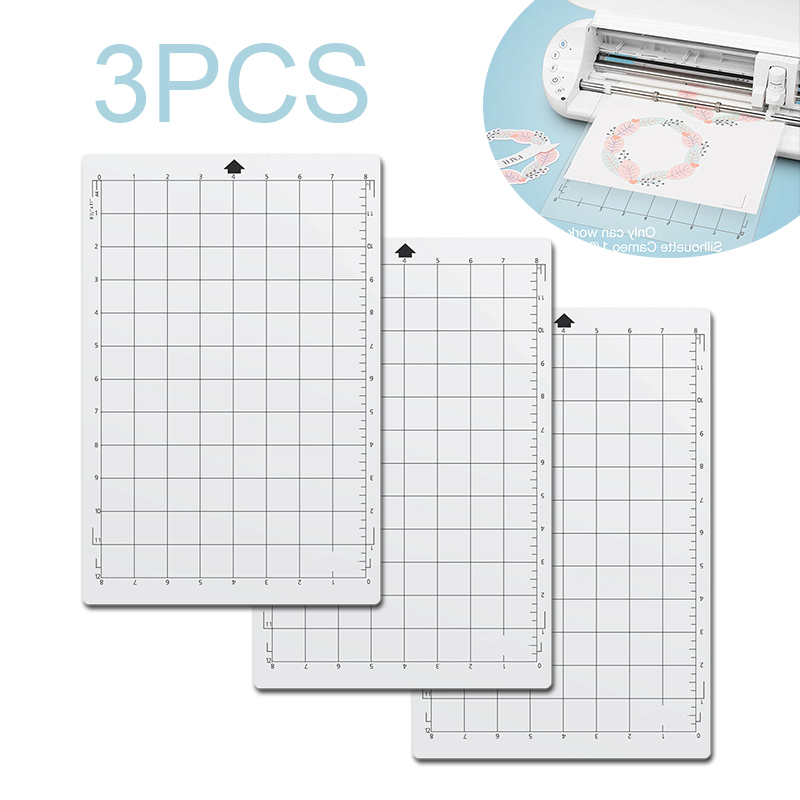 3pcs Replacement Cutting Mat Transparent Adhesive Mat Pad For Silhouette Cameo Cricut Explore Plotter  Machine 8