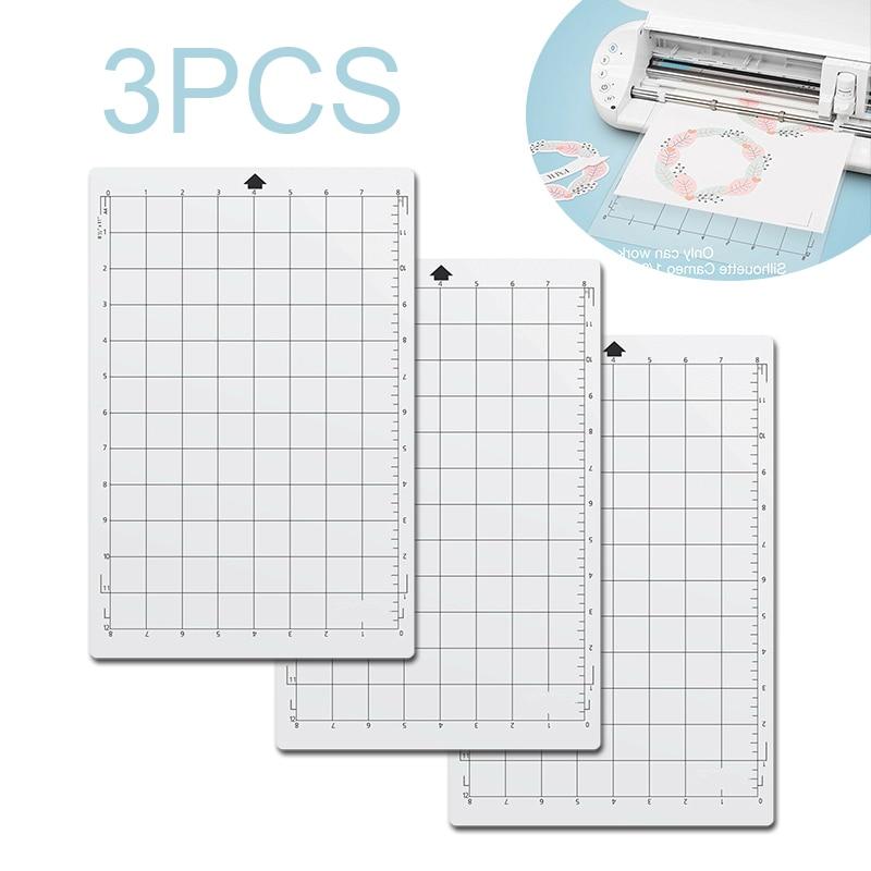 3pcs Replacement Cutting Mat Transparent Adhesive Mat Pad For Silhouette Cameo Cricut Explore Plotter  Machine 8