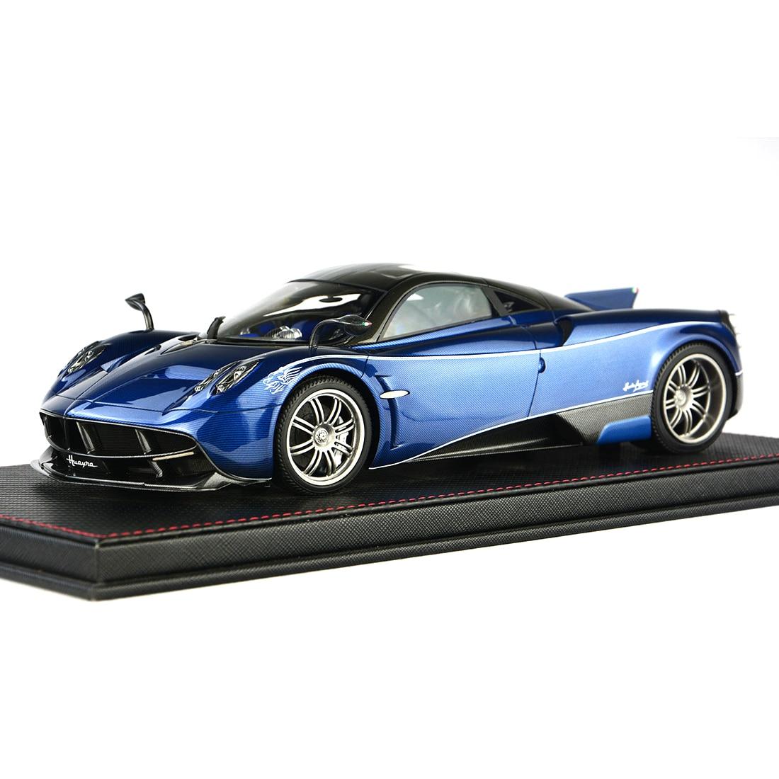 1:18 Auto Model Pagani Huayra Model Collection Decor Met Base Stofkap Model Educatief Speelgoed Blauw/Charcoal Grey /Paars Rood - 4