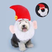 Забавные головные уборы для собак Санта Клауса карнавальный