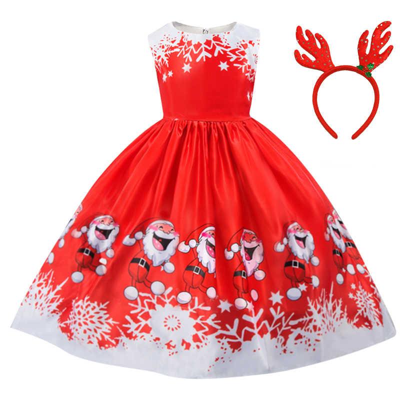 Vestido De Navidad De Año Nuevo Para Niñas Vestidos De Niños Niñas Vestido De Fiesta De Papá Noel Diadema De Partido 4 5 6 7 8 9 10 Años Ropa De Bebé