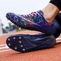 Кроссовки легкие с шипами для мужчин и женщин, спортивная обувь для бега, легкие гоночные матчи, шипы, размер 35-45
