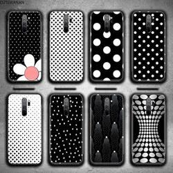 Черный и белый горошек чехол для телефона для Redmi 9A 8A 7 6 6A Note 9 8 8T Pro Max Redmi 9 K20 K30 Pro