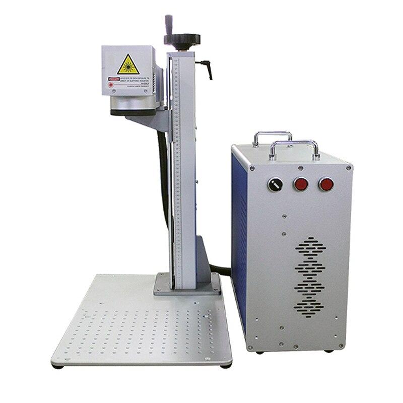 Machine de marquage de plaque signalétique de laser de fibre séparée par LY machine de gravure de laser en métal de laser de Fiber de 20w 30w 50w appropriée à l'acier inoxydable