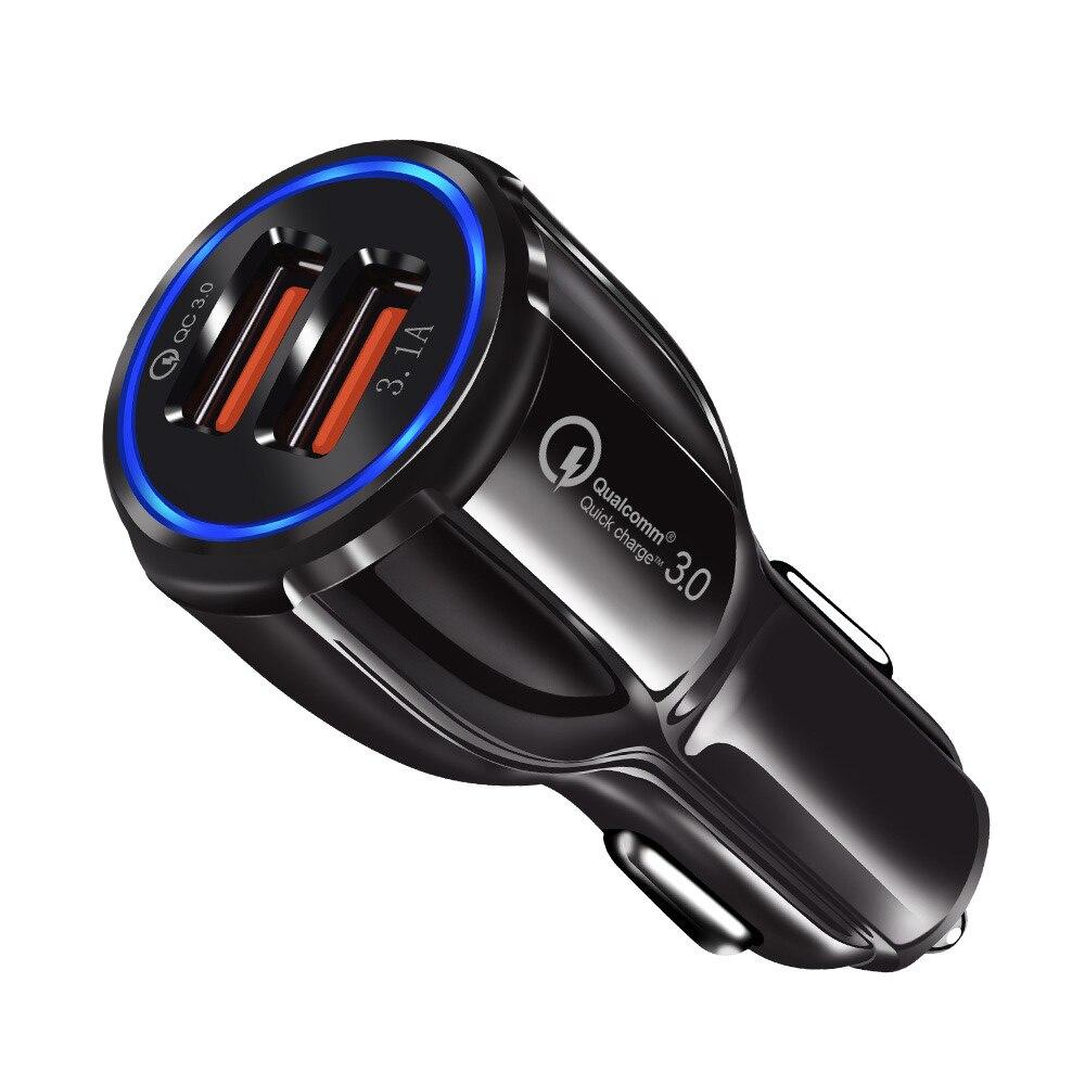Универсальное автомобильное зарядное устройство с двумя USB-портами, 30 Вт, 18 Вт, 3,0 А