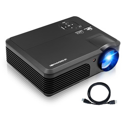 WiFi Projectors with Bluetooth  HD LCD LED 1080P Support Home Theater  Indoor Outdoor Movie Gaming with Android iOS Speakers