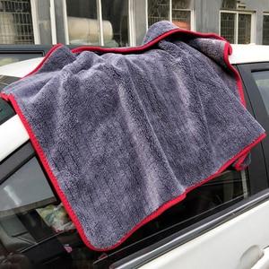 Image 3 - Trapo para coches 90x60cm detallado de coches trapo lavado coche microfibra toalla coche limpieza 900GSM microfibra gruesa para el cuidado del coche Cocina