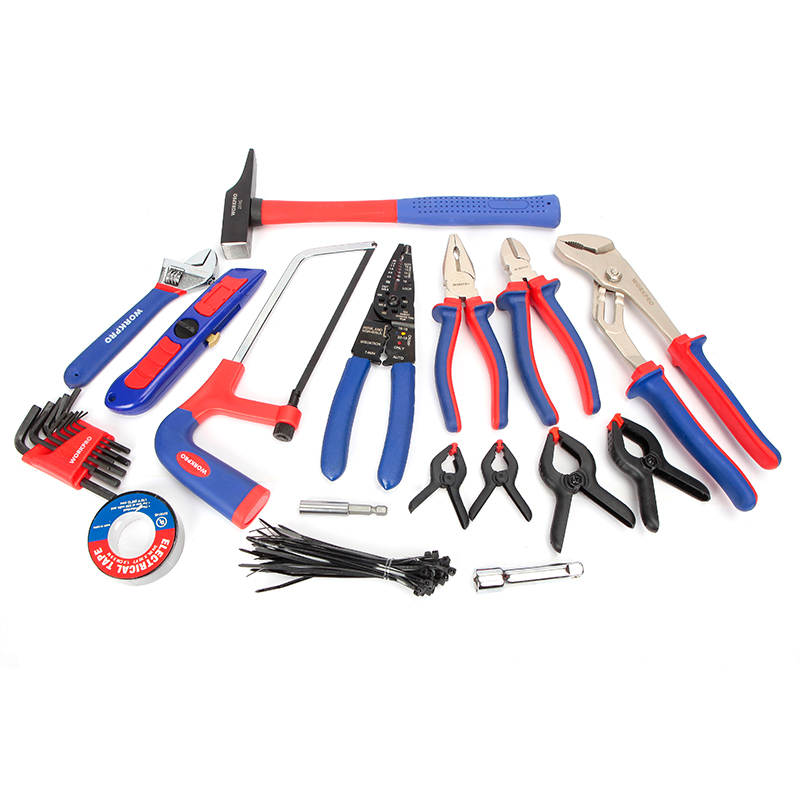 Tools : WORKPRO 139PC Home Tools Household Tool Set Screwdrivers Set Pliers Sockets Spanner Wrench
