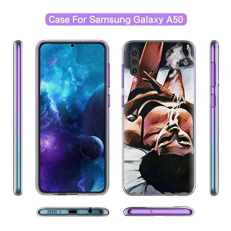 Курение Девушка эстетическое чехол для samsung Galaxy A50 A20e A70 A80 A60 A40 A30 s A10 e A9 A7 A8 A6 плюс 2018 мягкий чехол для мобильного телефона c Coque Casos