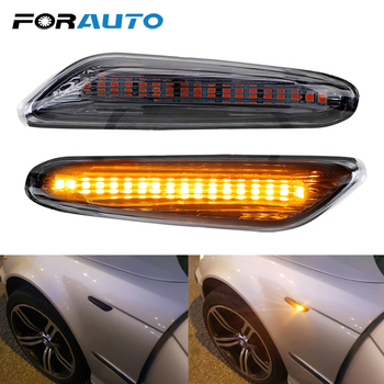 FORAUTO Car LED Side Marker Light Car Indicator Turn Signal Lights For BMW E90 E91 E92 E60 E87 E82 E61 DC 12V Error Free image