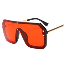 MuseLife Red Black Oversized Square Sunglasses Men New 2020