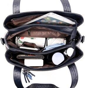 Image 5 - Soft Genuine Leather Tassels Tote Luxury Handbags Women Bags Designer Ladies Hand Shoulder Crossbody Bags for Women 2020 Sac