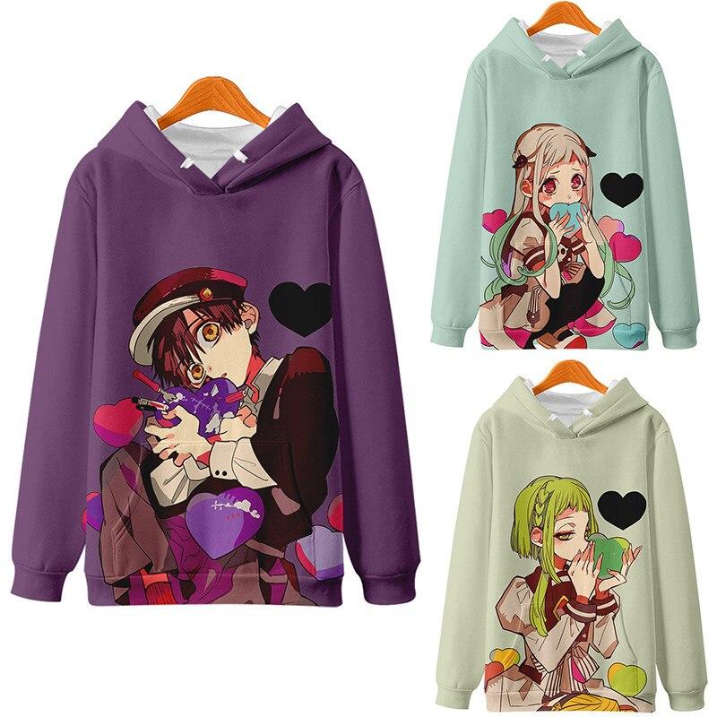 New Anime Toilet Bound Hanako kun Hoodies Unisex 3D Printed Hoodie Sweatshirt Youth Long Sleeve Hip Hop Men Women kids Autumn