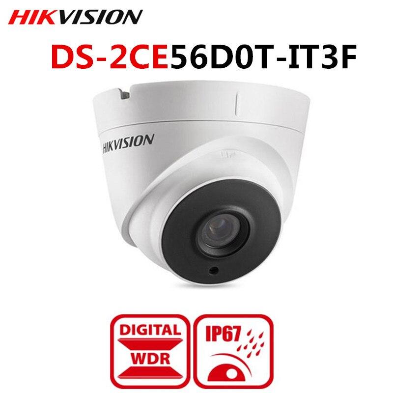 Original Hikvision International Version 2mp HD 1080p EXIR Turret Camera DS-2CE56D0T-IT3F Day/Night Outdoor TVI/AHD/CVI/CVBS