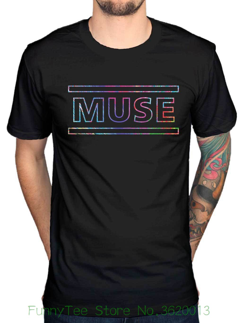 Official Muse The 2nd Law Logo T-shirt Song Titles Spectrum Metal Hard Rock Band image