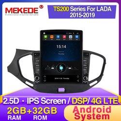MEKEDE HD IPS 2.5D 9.7 شاشة تسلا لادا فيستا الصليب الرياضة 2015-2019 راديو السيارة الاندورويد مشغل وسائط متعددة لتحديد المواقع نافي dsp dvd