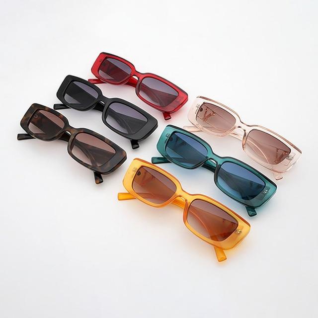 Retro Small Rectangle Sunglasses Candy Colors Gradient Sun Glasses Shades UV400 3