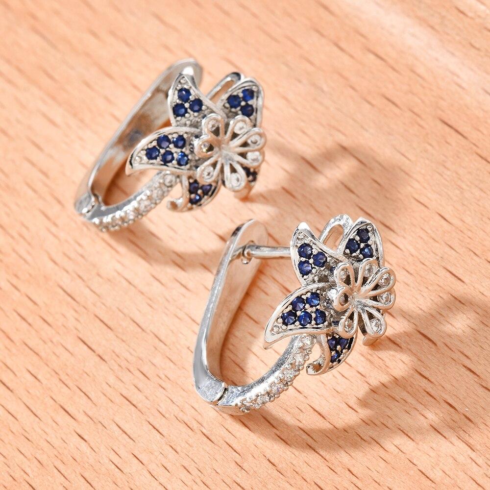 Sexy Blooming Datura Flowers Hoop Earrings for Women 2020 Brand New Crystal Rhinestone Hoop Earring Gift for Women Hoops Earing