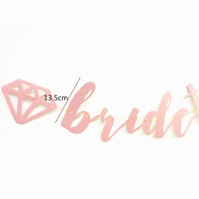3 meter/ensemble paillettes diamant bague mariée à banderoles bannière pour mariage fiançailles Bachelorette fête nuptiale douche décorations