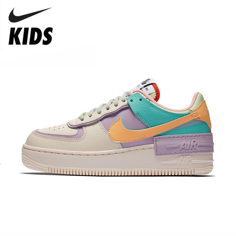 Nike Air Force 1 Original Kids Shoes New Arrival Children Skateboarding Shoes Comforbale HOOK&LOOP Sports Sneakers #CI0919