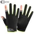 Летние велосипедные перчатки Для мужчин дышащие тонкие перчатки для рыбалки Нескользящие перчатки без пальцев перчатки для езды на спорти...