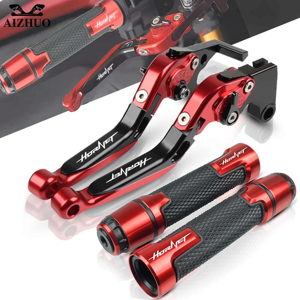 Brake Clutch Lever CNC Aluminum Motorcycle Handle Grips For Honda CB599 CB600F <font><b>Hornet</b></font> CB 599 CB <font><b>600</b></font> F 2007-2013 <font><b>2008</b></font> 2009 2010 image