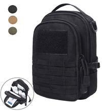 Pochette tactique Molle EDC, Pack d'outils utilitaires pour l'extérieur, pochettes de ceinture d'accessoires, chasse, Camping, randonnée, Kit, support pour téléphone