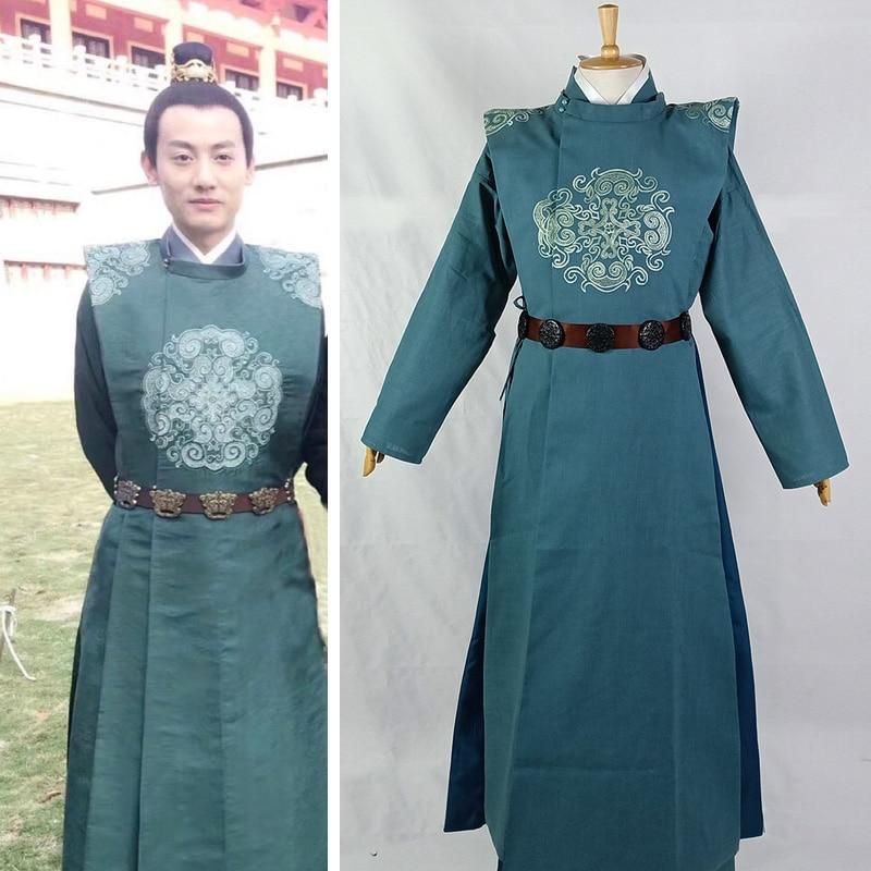 Light Green High Waist Ruqun  Wide Sleeve Big Hem Fairy Princess Costume Lovers' Costume Set For TV Play The Rise Of Phoenixes