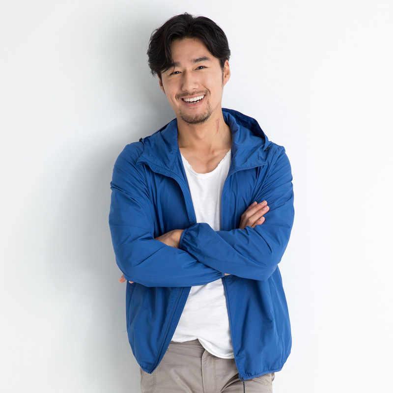 Sommer Sonnenschutz Kleidung männer Ultra-dünne Atmungs Koreanische Mantel Männer Haut Windjacke Mäntel Chaquetas Hombre KJ354