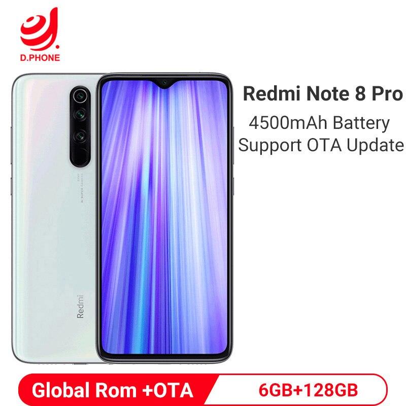 Global ROM Xiaomi Redmi Note 8 Pro 6GB 128GB Cellphone 64MP Quad Camera 4500mAh Smartphone MTK Helio G90T Octa Core Mobile Phone
