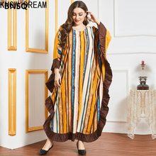 Conheça dream2045 saia feminina tamanho grande listrado folha de lótus lado bat de manga comprida casual muçulmano árabe saia longa