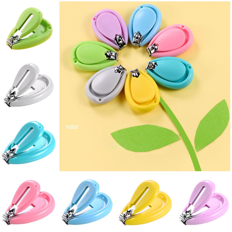 Baby Girls Boys Nail Clippers Safety Infant Nail Trimmer Scissors 7 Colors Kids Finger Toe Cutters Shower Gifts Set